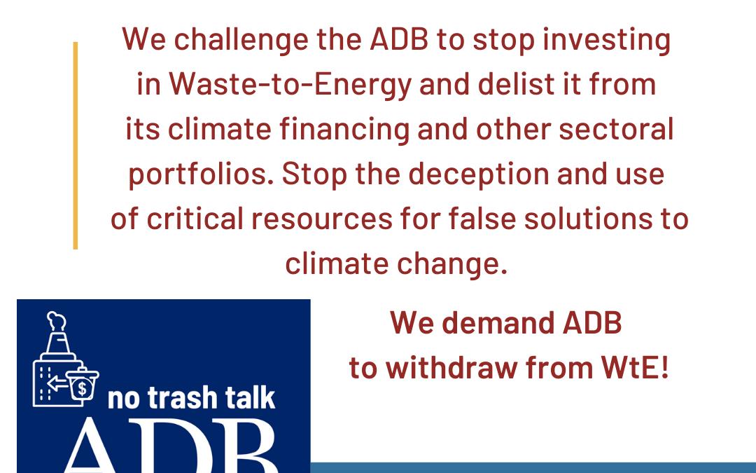 Press Statement on ADB Energy Policy draft