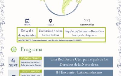 III Encuentro Basura Cero en Ecuador
