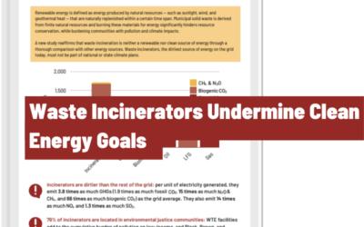 Waste Incinerators Undermine Clean Energy Goals